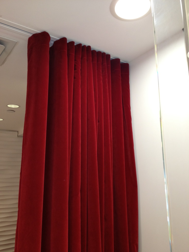 Recessed Drapery Tracks, for room divider