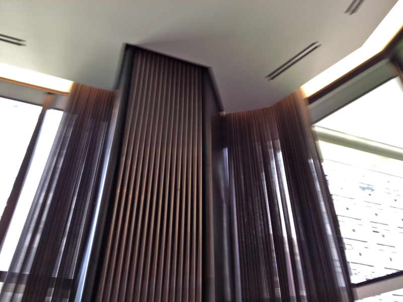 Sheer Draperies at 16 feet high installation